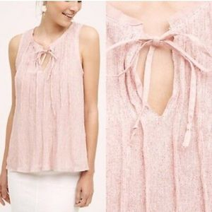 Meadow Rue pink pleated tank from Anthropologie